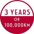 3 YEARS OR 100,000KM